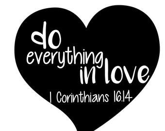 Valentine's Scripture Heart SVG, FCM, PNG Cut File