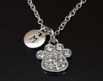 Dog Paw Necklace, Dog Paw Charm, Dog Paw Pendant, Dog Paw Jewelry, Dog Necklace, Dog Charm, Dog Pendant, Dog Lover, Dog Gifts, Dog Memorial