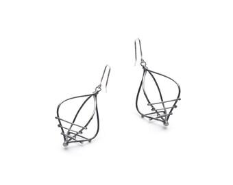 Chic silver earrings, Dainty dangle earrings, Silver chic jewelry, Dangle earrings, Minimalist dangle earrings silver, Chic dangle earrings