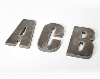 Small Rustic Metal Letters Rustic Metal Letters Recycled Steel 18 12 24 Inch Tall