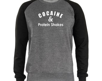 Cocaine & Protein Shakes Men's Sweatshirt Sweaters Funny Jumper Gift Present