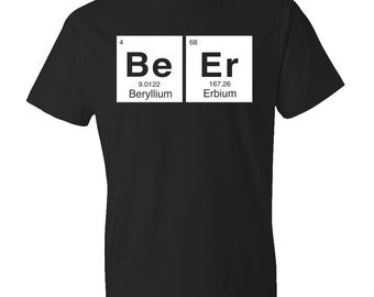 Beer Shirt, Funny Beer tshirt, beer tee, periodic shirt, periodic table, chemist shirt, chem t-shirt stem shirt funny gift beer gift #OS152