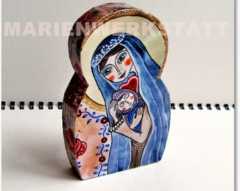 Maria with child in the Blue Coat - small figure to the stand and give