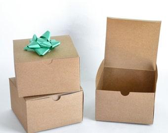 "Kraft Boxes, 20 Gift Boxes, Kraft Paper Boxes, Favor Boxes, Wedding Gift Boxes, Christmas Gift Boxes, Paper Boxes, Kraft Gift Box 5x5x3"""