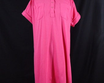 Vintage Jayre Inc. Extra Long Shirt Tunic Medium Pink