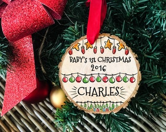 Baby's First Christmas Ornament, First Christmas Baby Ornament, My 1st Christmas, First Christmas Baby, Baby Christmas Ornament