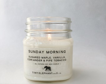 Coriander & Tonka - Soy Candle - Natural Candle -  Maple Candle - Coriander Candle - Tonka Candle - Mason Jar Candle - Tobacco Candle
