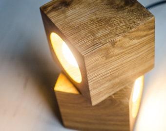 table lamp Q#62 handmade. minimalist lamp. wooden lamp. wood lamp. wooden desk lamp. desk lamp. wooden table lamp. wood table lamp. oak