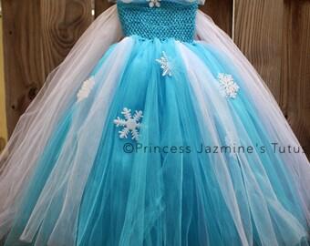 Elsa inspired tutu dress . Elsa tutu dress . Frozen theme tutu dress . Elsa tutu . Ice queen tutu dress . Elsa from frozen tutu dress