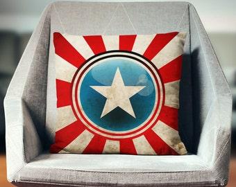 Captain America Pillow | Captain America Gift | Superhero Pillow | Captain Amercia Cushion | Superhero Pillowcase | Comic Book Pillow
