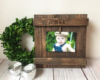 Fathers Day Gift - Rustic Home Decor - Picture Frame - Wood Frame - Rustic Picture Frame - Personalized - Wedding Gift - Rustic Frames