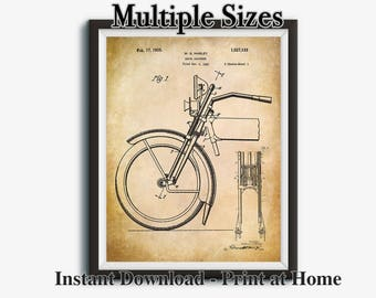 Motorcycle Printable, Gifts for Dad, Motorcycle Art, Motorcycle Poster, Motorcycle Gifts, Biker Gift, Patent Print, Printable Art