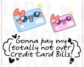 Credit Card || Planner Stickers, Cute Stickers for Erin Condren (ECLP), Filofax, Kikki K, Etc. || DPS34