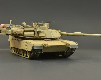 1/35 American M1A1 Abrams - Handmade/Collectible Scale Model