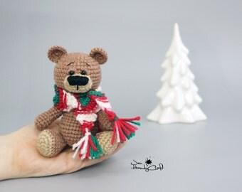 Christmas gift Christmas teddy bear Plush teddy bear Xmas gift Stuffed teddy bear Winter holiday decoration Stocking filler Stuffed animals