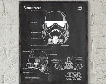 Star Wars ,Stormtrooper Art,Stormtrooper Helmet,Star Wars Print,Stormtrooper Print,Star Wars Poster,Star Wars Gift,Stormtrooper Poster #P293