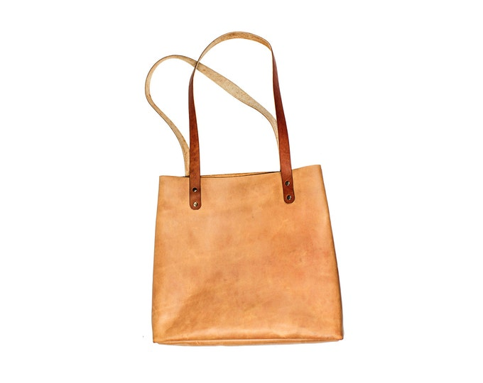 Leather tote bag - custom tote bag - leather handbag - Brown leather handbag - brown leather tote