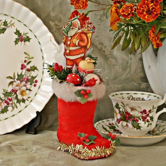 Items Similar To Retro Christmas Decor, Antique Christmas