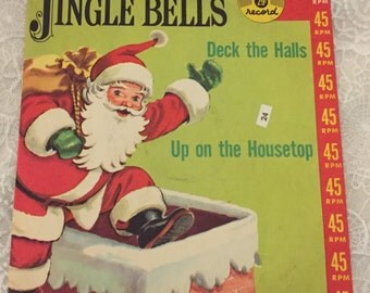 1950 Near MINT Condition ~ Jingle Bells 45RPM by Golden Records ~  The Sandpiper Chorus directed by Mitch Miller