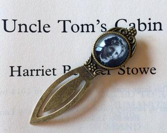 Harriet Beecher Stowe Bookmark - Uncle Tom's Cabin Bookmark, Harriet Beecher Stowe Gift, Vintage Silver or Bronze Abolitionist Bookmark