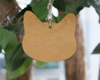Cat Key Ring | Wood Key Ring | Laser Cut Wood | Cat Keychain | Wood Keychain | Crazy Cat Lady | Cat Lover | Cat Themed Gift | Meow