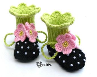 Knitted Baby Booties, Baby Booties Knit, Crochet Baby Shoes, Baby Shoes Crochet, Baby Girl Booties, Booties Baby Girl, Newborn Girl Booties.