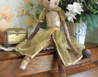 Tilda cat doll. Gift doll. Handmade textile rag doll.
