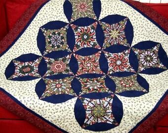 Asian Pattern Quilt Patchwork, Geisha Pattern, Japanese Quilt Pattern, Asian Blanket, Japanese Blanket, Asian Tablecloth, Japan Tablecloth