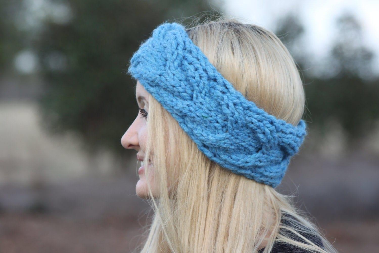 Knitting Pattern Cable Knit Headband : Knit Headband Pattern Cable Knit Pattern Ear Warmer Knitting Pattern Knit Bra...