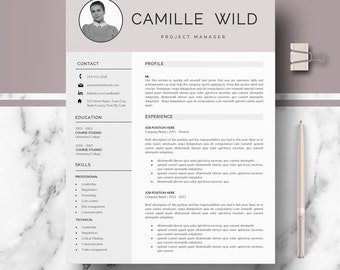 Professional CV Template; Resume for Word and Pages; 1, 2 page resume templates; Resume template instant download; CV / Resume design + Tips