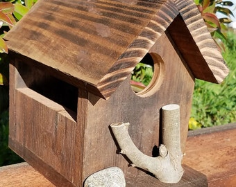 Rustic Birdhouse Natural Habitat Reclaimed Wood hand made in CA!