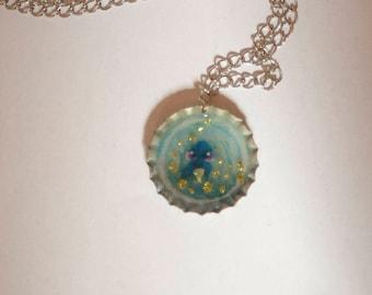 Bottle Cap Necklace (Dory)