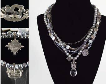 Andrea Barnett Layered Pearl Necklace