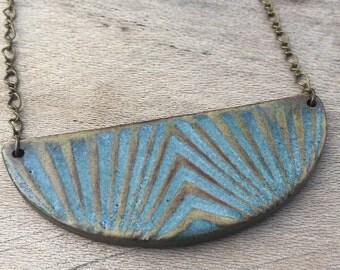handmade glazed ceramic necklace