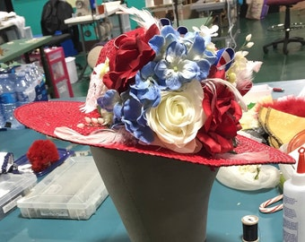 Flowered Embellished Hat