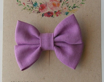 Piper Mini Double Bow in Lilac