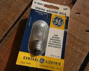 Vintage GE 15W Sewing Machine Bulb, Household Appliance Bulb, 15T7N, General Electric, New Old Stock