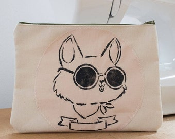 "small bag cosmetic bag ""fancy cat"