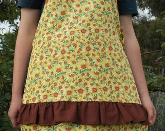 Sunflower Frilly Apron