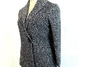 Hand knitted cardigan grey women's clothing coat cotton cardigan warm sweater poncho cape