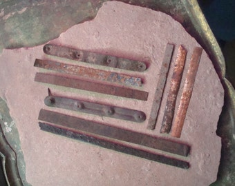 Rusty Flat Thin Metal Pieces Found Objects for Assemblage, Altered Art or Sculpture - Industrial Salvage