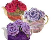 6 Cup Tea Cozy Pattern, Rose Tea Cozy Pattern, Crochet Tea Cozy Pattern, DIY Tea Cozy Pattern, PDF Tea Cozy Pattern