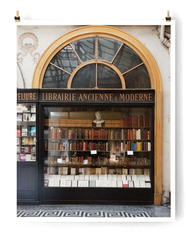 "Literary Paris Photography, ""Paris No 1"" Paris Print, Large Art Print Fine Art Photography, Bookish Gift for Her, College Student Gift"