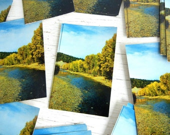 Vintage Oregon Postcards | Grande Ronde River | Pacific Northwest | Thank You Note | Wedding Invitations | Save the Date Card