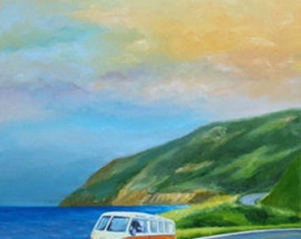 "SET of 3 - Giclee on 8 1/2""x11"" fine art paper by Daina Scarola (Nova Scotia, SUP, Happy Dudes, Cabot Trail) Free Shipping"