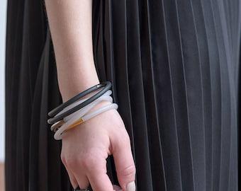 Lucy Bracelet   Hand Made Contemporary Bracelet    Modern Design   Gift for Her   Modern Bangle   Geometric Bangle