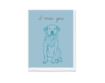 Miss You Dog Card