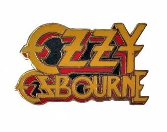 OZZY OSBOURNE vintage enamel pin badge button BLaCK SaBBATH heavy metal rock concert