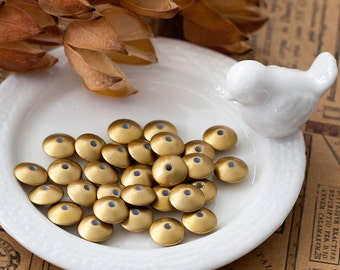 Vintage Plastic Gold Saucer Spacer Beads