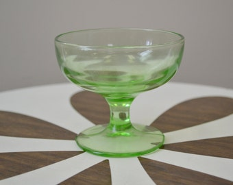 1930s Hazel Atlas Green Depression Glass Sherbet
